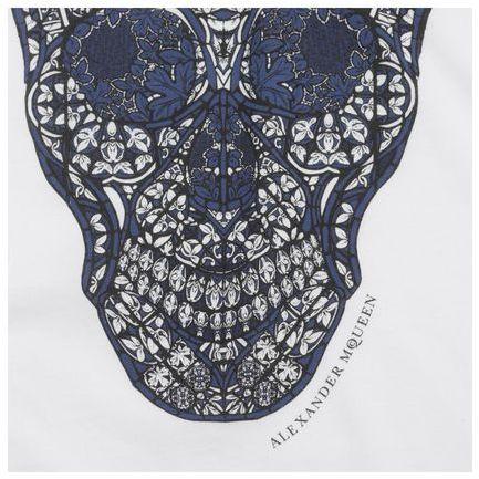 Alexander McQueen Stained Glass Skull Print T-Shirt