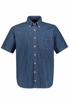JP 1880 Men's Big & Tall Denim Shirt Blue Denim 8XL 748461 92-8XL