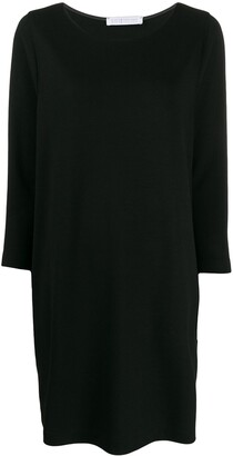Harris Wharf London Boat Neck Shift Dress