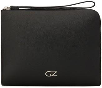 Giuseppe Zanotti Zipped Logo Plaque Clutch Bag