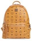 mcm small stark side stud backpack brown
