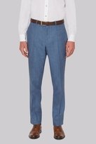 Hardy Amies Mid Blue Linen Trousers