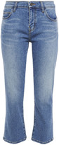 Thumbnail for your product : Current/Elliott The Scooped Ruby Cropped Mid-rise Straight-leg Jeans