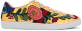 Gucci 'Ace' floral-embroidered sneakers - women - Leather/Patent Leather/rubber - 41