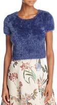 Alice + Olivia Ciara Cropped Eyelash Knit Sweater