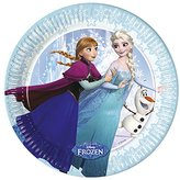 Unique Party Disney Frozen Ice Skating Paper Party Plates (Pack Of 8) (7.5in) (Blue)