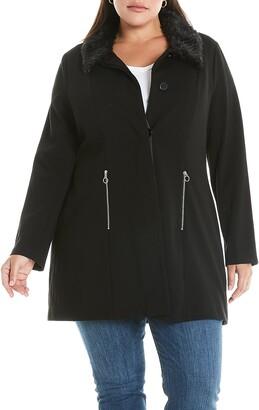 Estelle Atlantic Faux Fur Trim Coat
