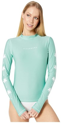 Billabong Core Loose Fit Long Sleeve Rashguard (Seafoam) Women's Swimwear
