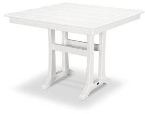 """Polywood Square 29"""" Dining Table Color: White, Table Size: 37.5"""" W x 37.63"""" L x 29"""" H"""