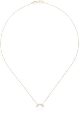 Andrea Fohrman 14kt Rose Gold Single Row Diamond Necklace