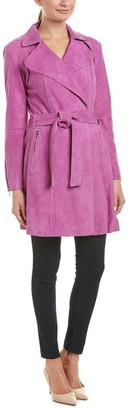 Dawn Levy Women's Suede Trench Coat
