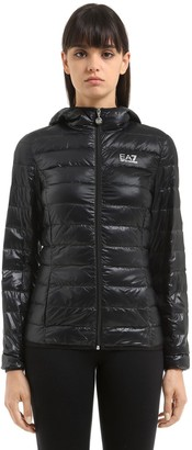 EA7 Emporio Armani Train Core Hooded Light Down Jacket