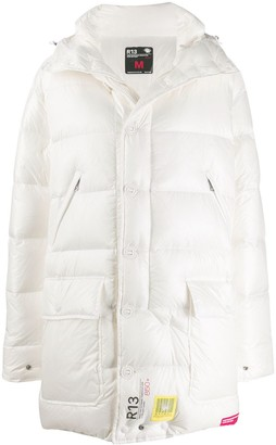 BRUMAL x R13 padded hooded coat