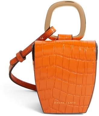 Danse Lente Leather Croc-Embossed Pablo Box Bag