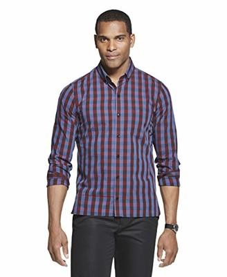 Van Heusen Men's Slim Fit Never Tuck Long Sleeve Button Shirt