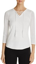 T Tahari Gianna Lace-Up Sweater