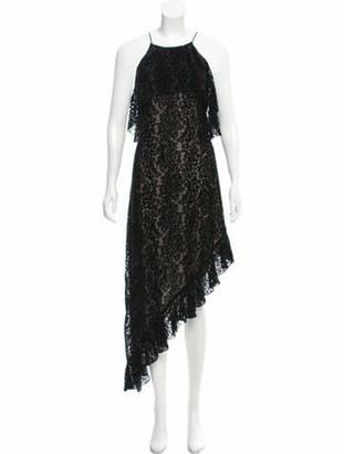 Alice + Olivia Patterned Halter Dress Black