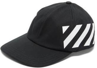 Off-White Off White Diagonal-logo Cotton Baseball Cap - Mens - Black