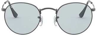 Ray-Ban Round Solid Evolve Sunglasses