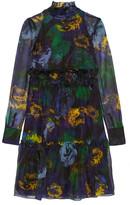 Erdem Devina printed silk-organza dress
