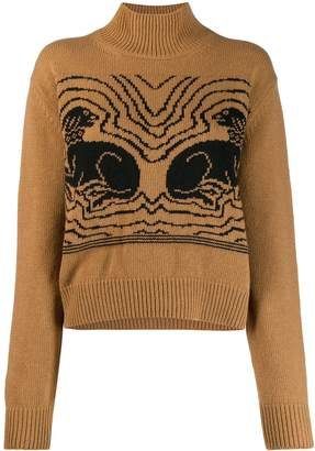 ALEXACHUNG Alexa Chung knitted dog sweater