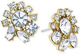 Marchesa Crystal Cluster Stud Earrings