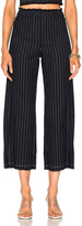 Alexander Wang Cotton Burlap High Waisted Cropped Pant