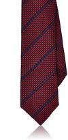 Barneys New York MEN'S STRIPED TEXTURED-WEAVE SILK NECKTIE