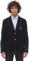 Gucci New Wool & Cotton Jersey Jacket