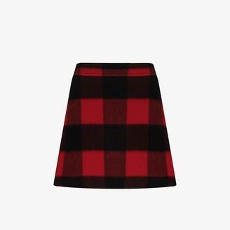 Ganni Check Mini Skirt