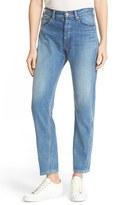 Rebecca Taylor Women's Beatrice High Rise Crop Straight Leg Jeans