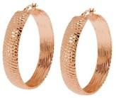 """Arte D'oro Arte d'Oro 1-1/2"""" Diamond-Cut Hoop Earrings, 18K Gold"""