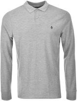 Original Penguin Raised Rib Polo T Shirt Grey