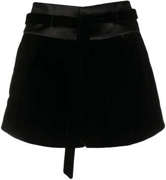 Saint Laurent Belted Shorts