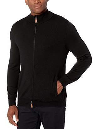 Buttoned Down Amazon Brand Men's Italian Merino Wool Full-Zip Sweater