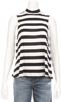Splendid Rugby Stripe Mock Neck Tee