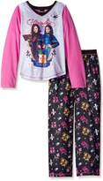 "AME Sleepwear Descendants Little Girls' ""Avadon Prep"" 2-Piece Pajamas - gray multi"