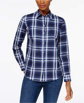 Charter Club Cotton Plaid Shirt, Created for Macy's