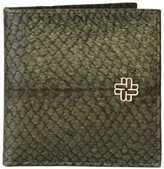 Mayu Thule Fish Leather Card Case - Moss