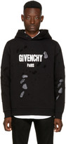 Givenchy Black Distressed Logo Hoodie