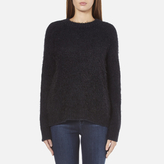Samsoe & Samsoe Women's Joi O Neck Jumper Dark Blue Melange