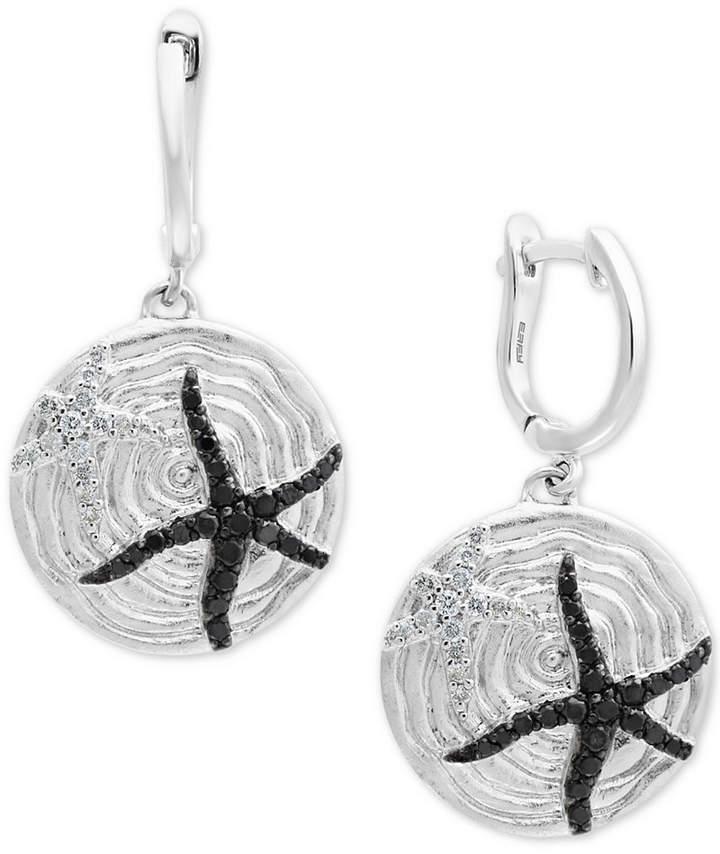 Effy Balissima by Diamond Starfish Drop Earrings (1/2 ct. t.w.) in Sterling Silver