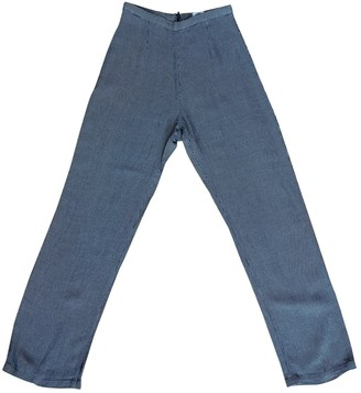 Armani Jeans Navy Trousers for Women