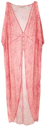 Adriana Degreas Printed Silk Kaftan