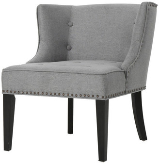 Gdfstudio GDF Studio Aria Fabric Occasional Wing Back Chair, Gray
