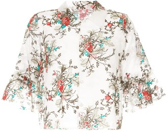 macgraw Bourgeois cropped blouse