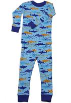 New Jammies Blue Snuggly Sharks Organic Cotton Sleepwear Set - Infant