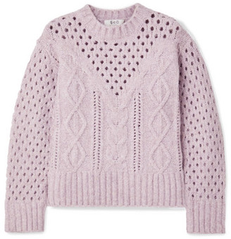 Sea Cora Cable-knit Sweater - Lavender