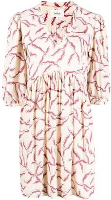 BA&SH Constance gathered print dress