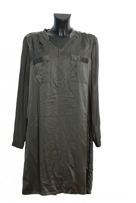 One Step Khaki Silk Dress for Women